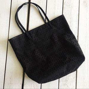 FENDI Zucca Monogram Small Black Fabric Tote Bag